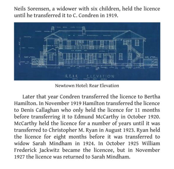 Newtown Hotel History 1939