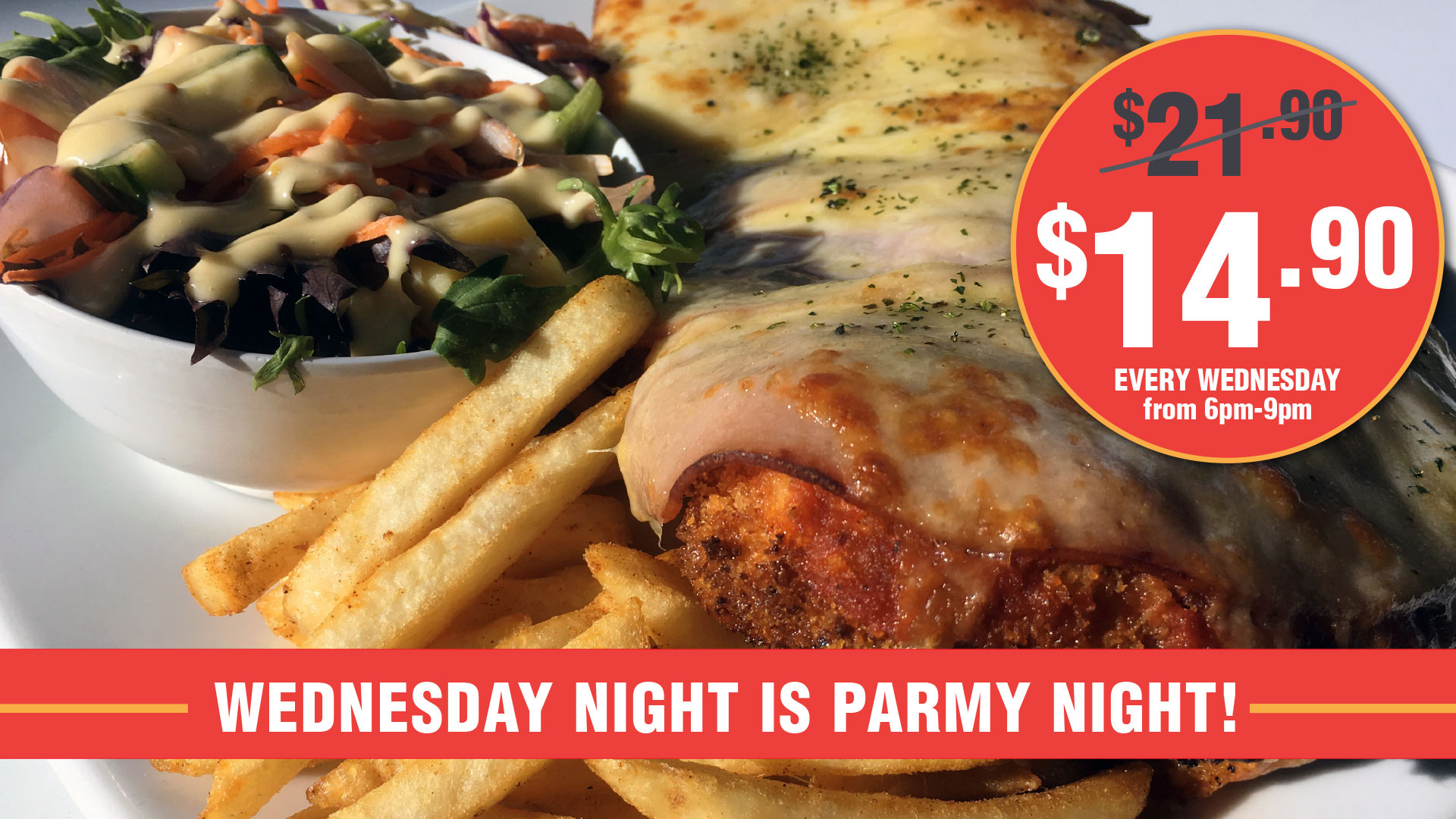 Newtown Parmy Night Every Wednesday