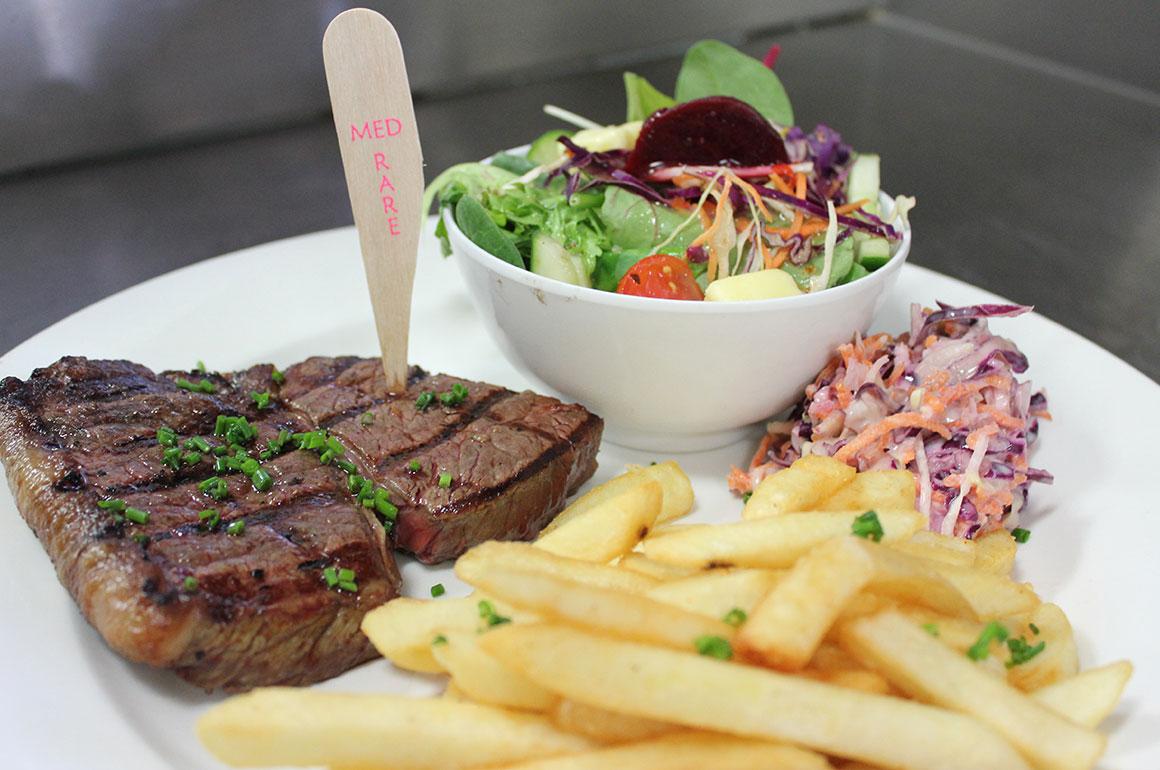 Steak at Newtown Hotel